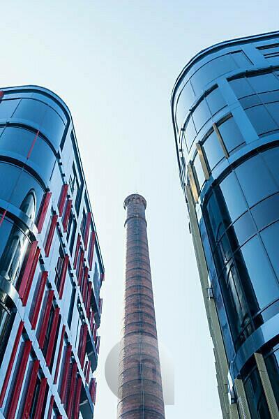 Estland, Tallinn, Rotermann City, modernes Geschäftsviertel, Glasfassaden