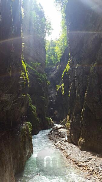 Partnach gorge in summer