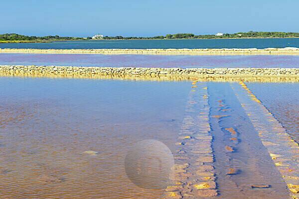Salt lake, Formentera, Balearic Islands, Spain