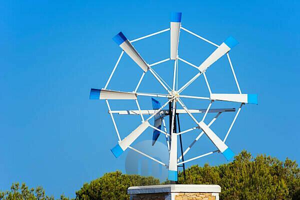 Windmill, Formentera, Balearic Islands, Spain