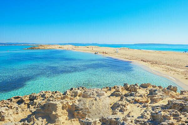 Ses Illetes beach, Formentera, Balearic Islands, Spain