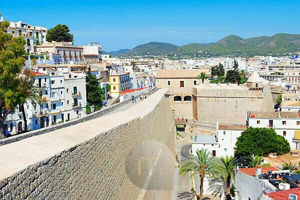 Ibiza Old Town (Dalt Vila), Ibiza town, Ibiza, Balearic Islands, Spain, Europe