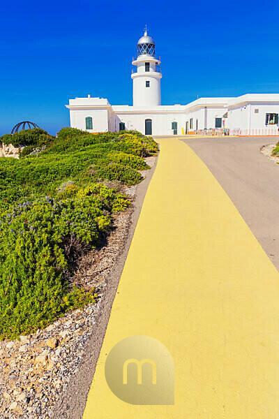 Cap de Cavalleria lighthouse, Menorca, Balearic Islands, Spain, Europe
