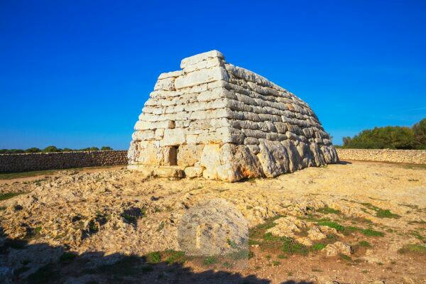 Megalithic tomb at the site of Es Tudons, Menorca, Balearic Islands, Spain, Europe