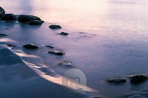 Estonia, North Coast, Baltic Sea, Liimala Beach, Evening Light