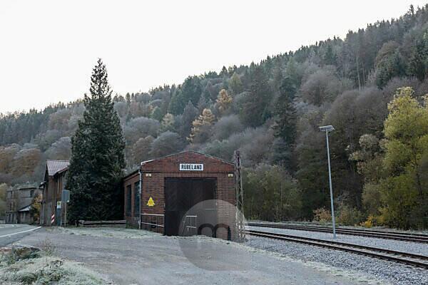 Germany, Saxony-Anhalt, Rübeland, old engine shed, Harz.