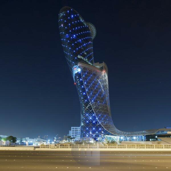 Capital Gate, Abu Dhabi, United Arab Emirates,