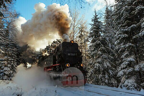 Harz narrow-gauge railway Brocken, Harz, Germany