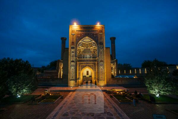 Registan Square in Samarkand, Uzbekistan - landmark of the country