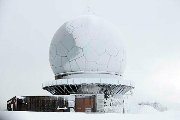 Winter, Wasserkuppe, Frost, Snow, Rhön, Hesse, Germany, Europe,