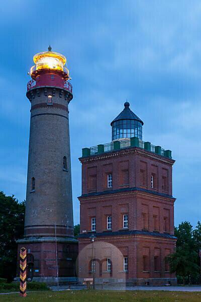 Rügen, Kap Arkona, Leuchttürme zur blauen Stunde