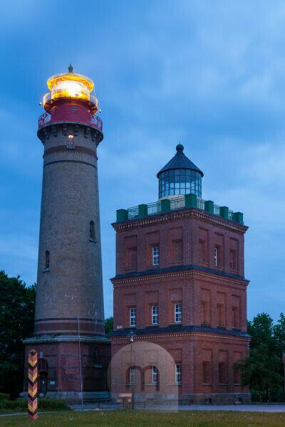island of island of Rügen, Cape Arkona, lighthouses at the blue hour