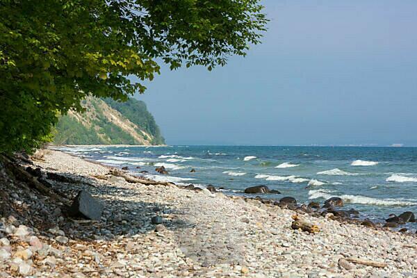 island of Rügen, coastal path between Sellin and Binz, cliffs