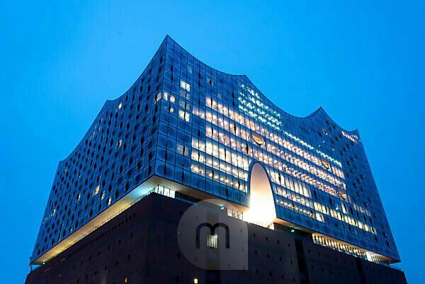 Deutschland, Hamburg, Elbphilharmonie in Hamburg, Hafen-City, nahe Speicherstadt.