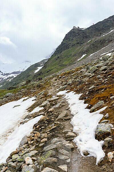 Europa, Österreich, Tirol, Ötztaler Alpen, Ötztal, Obergurgl, Ramolhaus auf der Bergkuppe