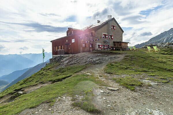 Europe, Austria, Tyrol, East Tyrol, Kals am Großglockner, Sudetendeutsche hut in the Hohe Tauern