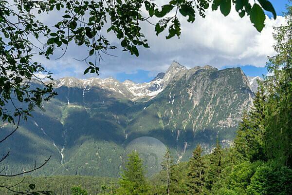 Europa, Österreich, Tirol, Ötztaler Alpen, Ötztal, Blick vom Seejöchl auf den Acherkogel und die benachbarten Gipfel