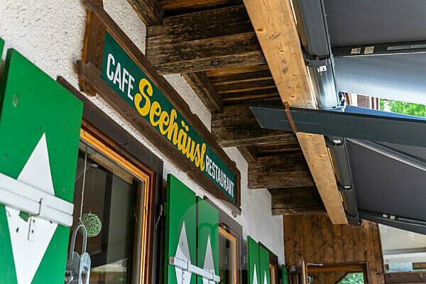 Europa, Österreich, Tirol, Ötztaler Alpen, Ötztal, Cafe Seehäusl am Piburger See