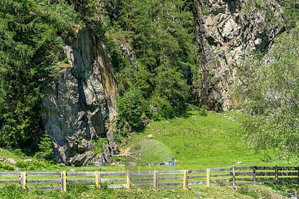 Europa, Österreich, Tirol, Ötztaler Alpen, Ötztal, Klettergarten Oberried