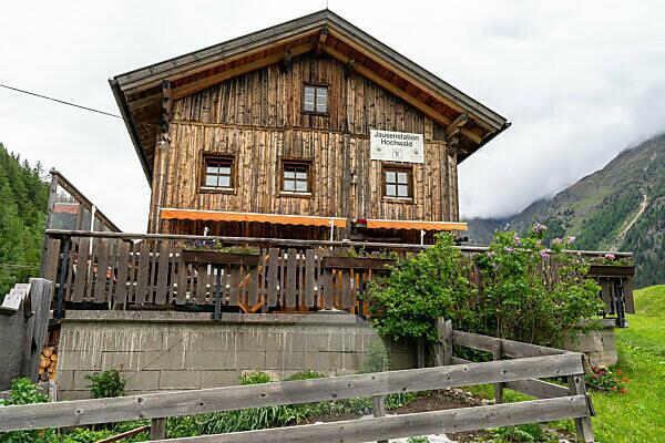 Europe, Austria, Tyrol, Ötztal Alps, Ötztal, Hochwald mountain inn near Granstein in the Ötztal