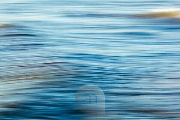 Long exposure of a sunlit ocean wave, Adriatic Sea, Italy